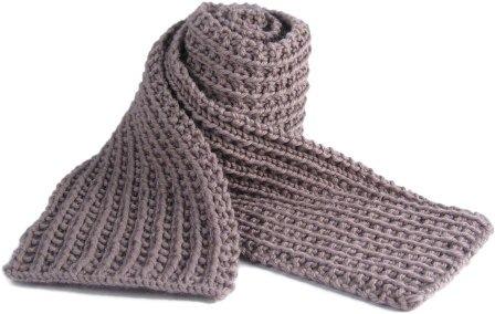 Bonnie & Crafts(手作): [編織圖]圍巾1:男性圍巾 Scrunchable scarf (初級)